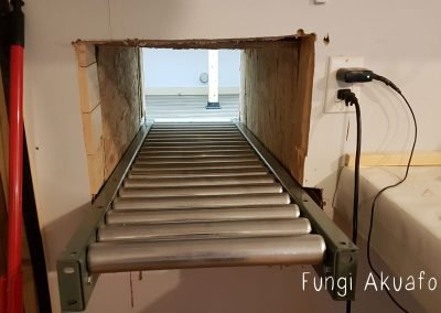 The chute indoors